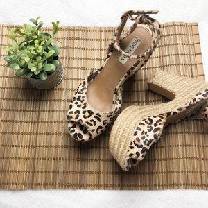 Steve Madden Real Fur Leopard Heels Sz 7.5 ✨